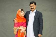 """""""He gave me wings"""" Malala and her father, Ziauddin, an activist for female rights who self-deprecatingly refers to himself as """"the youngest-ever father of a Nobel prizewinner"""""""