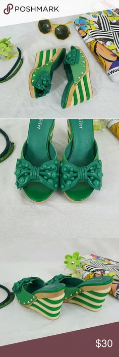 I'll be by the pool, with a mojioto!! Shoes!! So. Very. CUTE!! It's as if Katie Perry and Betsy Johnson had a St.Pattys day pool party and you're invited, bae!! Jess Giler Shoes Wedges
