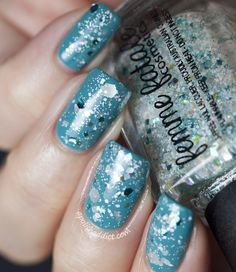 Femme Fatale Cosmetics A Frosty Shake over piCture pOlish Marine| A Polish Addict