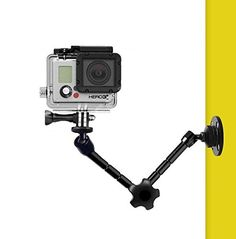 Alician Electronics for Car Sucker Bracket for DJI Osmo Action Camera Tripod Mount Record Holder Stand