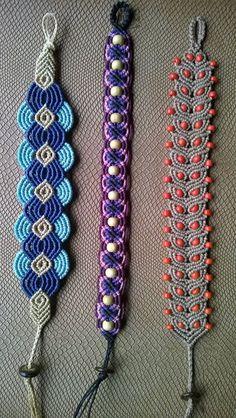 VER TERMINACIONES   Macrame bracelets