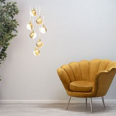Cleveland Cluster Pendant Light, Brass   BHS Eames Lounge Chair, Ceiling Pendant Lights, Furniture, Interior, Cluster Pendant Lighting, Accent Chairs, Home Decor, Ceiling Lights, Cluster Pendant