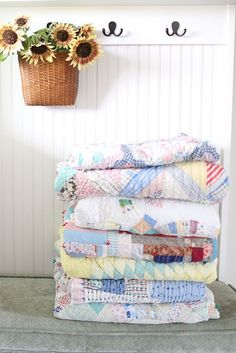 I'll admit I have a soft spot for the underdogs. To me, worn-out quilts are just that - often passed over because of stains and wear, and no longer desirable to many. And that's a shame. If you have a...