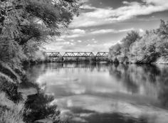 The Bridge by Dominique Toussaint on Reflection, Bridge, River, Outdoor, Outdoors, Bridges, Outdoor Games, The Great Outdoors, Bro