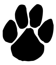 panther paw print clip art clipart best clipart best locker rh pinterest com Panthers Paw Black and White Panther Paw Print Clip Art