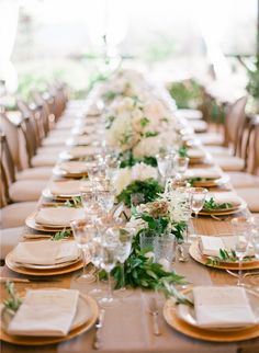Tablescape, Red Tail Ranch, Flowers by: Camellia Floral Design, Wedding Design by:  Joy Proctor Design - Ojai Wedding http://caratsandcake.com/theheatlys