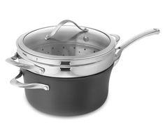 Calphalon Contemporary Nonstick Saucepan with Lid & Steamer, 4 1/2-Qt. #WilliamsSonoma