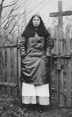 Grand Duchess Olga in a nurses uniform during WWI