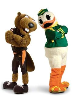 That duck is one feisty mascot! haha