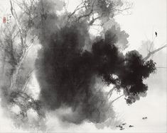"""Takeuchi Seiho, Japanese artist, (1864-1942) :   painting, 1937, """"Birds at Roost"""""""