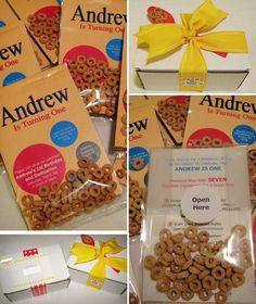 Cheerios Birthday I just love the invitation.  The boxes are cue too but hard to mail to everyone.