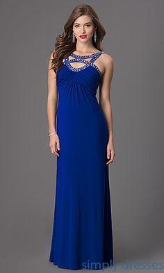 92d7de1e280 Floor Length Sleeveless Empire Waist Dress