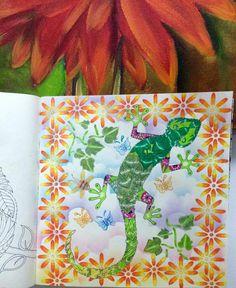 Meu lagarto #selvamagica #magicaljungle @johannabasford @editorasextante…