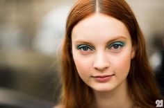 teal. It really makes a statement worn with pared down makeup. Unexpected, and I love it.