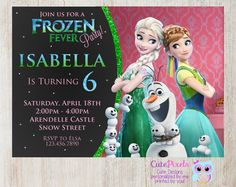 Frozen Fever invitation, Frozen Summer invitation by cutepixels