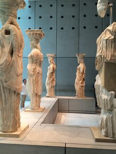 The original Caryatids from the Erechtheion, Greece by Caitlin Martin for Johnny Jet Ancient Greece, Ancient Egypt, Mount Olympus Greece, New Museum, Minoan, Parthenon, Greek Art, Athens Greece, Crete