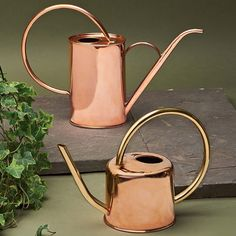 Solid Copper Indoor Watering Cans Hand made exclusively for Garrett Wade