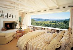OMG, now that would be an amazing master bedroom view (w/fireplace too!)