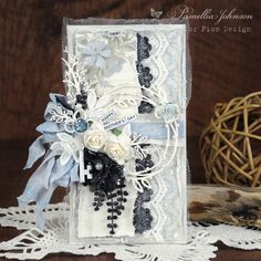 """Hello Everyone! Today I am sharing a Mother's Day card featuring the Pion Design collections """"Days Gone By"""" and """"Our Furry Friends"""". I love the blue flowers and elegan… Shabby Flowers, Blue Flowers, Girl Birthday Cards, Beautiful Handmade Cards, Butterfly Cards, Pretty Cards, Card Tags, Vintage Paper, Hello Everyone"""