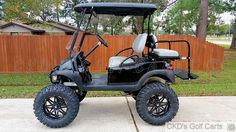 Monster lifted customized Club Car Precedent golf cart, by CKD Golf Carts