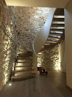 Staircase Interior Design, Interior Exterior, Interior Architecture, Stair Lighting, Bedroom Lighting, Stair Decor, Granges, Farmhouse Remodel, Stair Steps