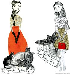 Illustration by Katy Smail at Kate Ryan Inc. Creature Comforts, Mixed Media Collage, Soft Sculpture, Cat Art, Art Photography, Illustration Art, Artsy, Creatures, Sketches
