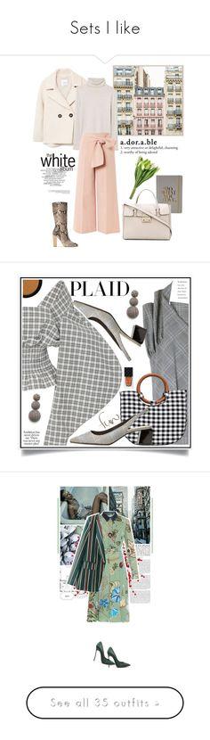 """Sets I like"" by stellina-from-the-italian-glam ❤ liked on Polyvore featuring Tri-coastal Design, WALL, Massimo Dutti, Furla, MANGO, Topshop, Nika Tang, TIBI, Gucci and plaid"