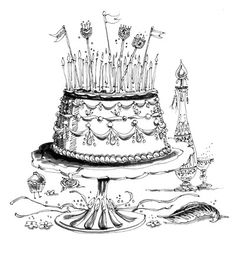 Large Cake Illustration