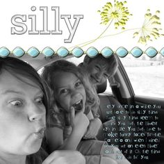 Silly - Reflections Digital Scrapbook Layout - Photo Book Page - from the Creative Memories Project Center - Detailed Instructions:  http://projectcenter.creativememories.com/photos/digital_family_and_friend/silly-reflections-digital-scrapbook-layout.html