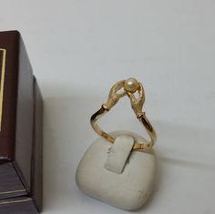 Ring Silber 925 Hände mit Perle vergoldet SR728 von Schmuckbaron