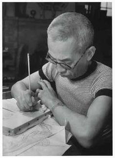 Léonard Foujita, Japanese-French artist, 1941