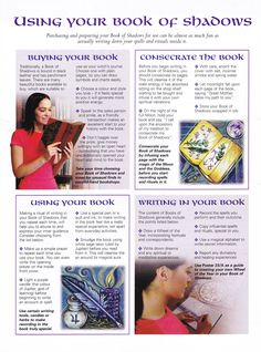 Using your book of shadows