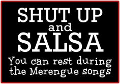 Shut up and Salsa; you can rest during the merengue songs, love me all type of Latin dance