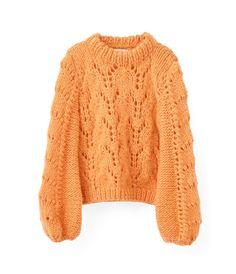 Shop the GANNI Faucher Knit in Russet Orange at ModeSportif.com. #GANNI #ShopGanni #MODESPORTIF