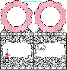 Princesses White: 15 Years Party Kit or Paris Wedding Theme (Free Printable)