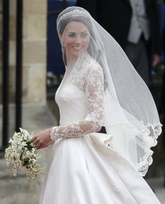 Kate on her wedding day to Prince William.