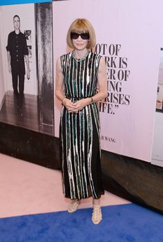 2017 CFDA Awards Celebrity Red Carpet Looks: Just when you thought all the red carpet fun was over, the CFDA awards sneak up on us like a gift straight from the heavens. Sure, the CFDA's aren't usually as out there as the Met Gala red carpet, but attendees really bring the glamour. -- Anna Wintour in Sequined Striped Dress  |  coveteur.com