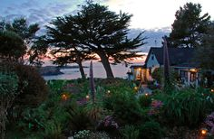 Mendocino, CA, is one of my favorite towns. I'd love to live there. The Agate Cove B is a wonderful place, with a breathtaking view and great breakfasts.