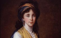 """This piece titled """"Portrait of Princess Belozersky"""" is currently seen at the National Museum of Women in the Arts. It was created in 1798 by famous Artist Élisabeth Louise Vigée-LeBrun"""
