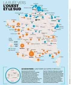 La ruée vers l'Ouest et le Sud. La nouvelle diagonale française #migrations, #aménités