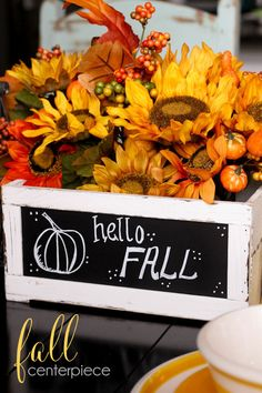 Beautiful Fall centerpiece - takes only 5 minutes to make!! { lilluna.com }