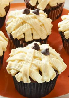 Mummy Cupcakes -- Their bandages are made from pudding mix, and their eyes are chocolate chips. But that's only part of the reason this Halloween dessert recipe is yummy!
