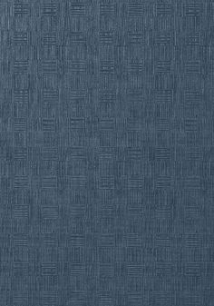 Tunica Basketwas inspired by hand-crafted art. The emboss of the basket was developed by the studio and the tip printing on some colours gives a highlight of metallic. It is a Type II vinyl wallcovering which makes it durable as well. Tunica Basket 839-T-75089 Navy by Thibaut wallpaper