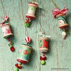 spool ornaments