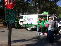 The Papa's BBQ Van.  Tybee St. Patricks Day Parade.