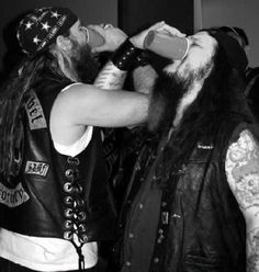 Zakk Wylde and Dimebag Darrell (Got to meet Zakk one of the nicest dudes you could ever talk too, never had the pleasure of meeting Dime but everybody said he was amazing to be around)