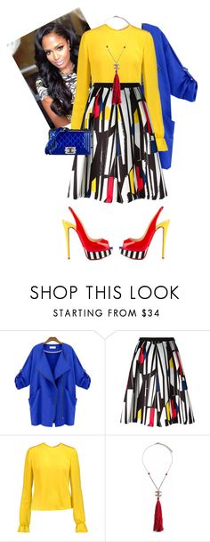 """""""Untitled #595"""" by cogic-fashion ❤ liked on Polyvore featuring Iceberg, Roksanda, Retrò, Chanel and Christian Louboutin"""