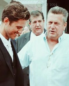 Aaron Tveit and his father