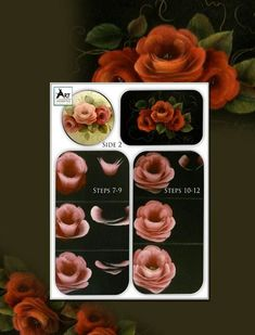 Painting DVD - Learn to paint three different colors of Stroked Roses in Acrylic with artist Susan Abdella, MDA. Acrylic Painting Techniques, Painting Tips, Art Techniques, China Painting, Tole Painting, Painting & Drawing, Folk Art Flowers, Flower Art, Rose Images