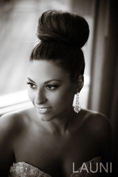 Sky high wedding hair bun. Stunning picture! by Launi.com
